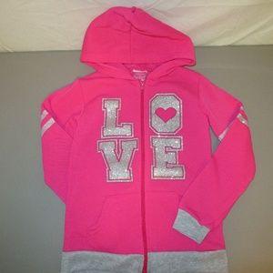Girls Diva Brand Zip-Front Hoodie Size 7/8